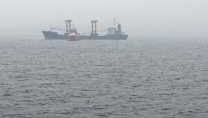 Çanakkale Boğazında gemide yangın Sürüklenen gemi demir attı