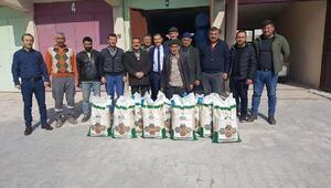 Altunhisarda çiftçilere 1 ton kuru fasulye tohumu dağıtıldı