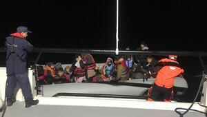 Enez açıklarında 33 kaçak göçmen yakalandı