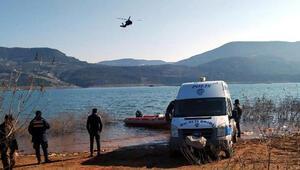 Kemer Barajında kaybolan balıkçıyı arama çalışmaları 5inci günde