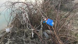 Tepki çeken olay Irmak kenarına dökülmüş halde bulundu