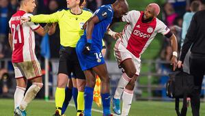 Ryan Babelden olay hareket Getafe-Ajax maçında...