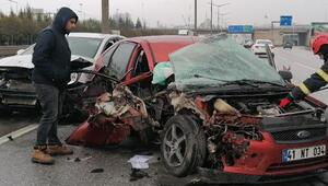 Gebzede zincirleme trafik kazası: Yaralılar var