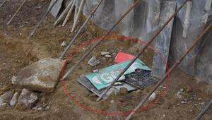 Apartman inşaatının temel kazısında lahit bulundu