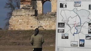 Edirnede tarihi keşif heyecanı Osmanlı Sarayının kapısı bulundu