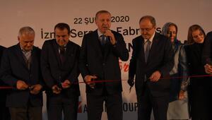 Cumhurbaşkanı Erdoğan İzmirde seramik fabrikası açtı