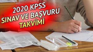 2020 KPSS başvurusu ne zaman başlayacak KPSS lisans sınavı ne zaman