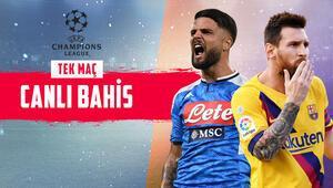 Barcelona, San Paoloda avantaj arıyor Napoliye karşı iddaada en çok...