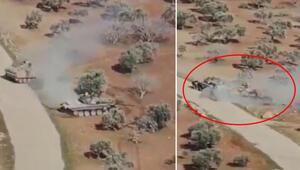 Suriyede inanılmaz görüntüler 15 tonluk zırhlı araç ile 45 tonluk tank karşı karşıya...
