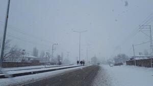 Iğdır Tuzlucada okullara kar tatili