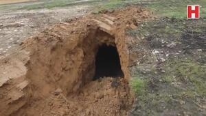 Tel Abyadda PKK/YPGye ait bir tünel bulundu