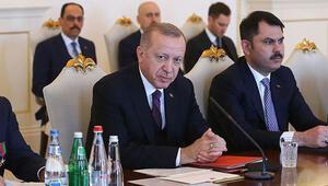Son dakika haberler... Cumhurbaşkanı Erdoğan: Hedef Türkiye-Azerbaycan ticaret hacmini 15 milyar dolara çıkarmak