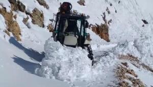 Nemrut Dağında yol açma çalışmaları sürüyor