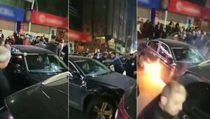 Arabalara çarptı, inmedi, yangın çıktı Ortalığı birbirine katan sürücü sinir krizi geçirmiş