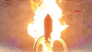 750 saatte 1 milyon kibritle roket yaptı