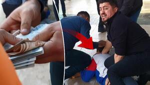 Antalyada akılalmaz olay Kaçmak için paraları sokağa saçtı...