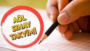 Açık lise sınavları ne zaman MEB AÖL 2. dönem sınav takvimi 2020