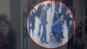 Bayrampaşada metro istasyonunda polise saldırı kamerada