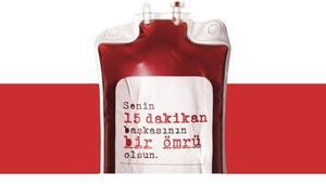 Veli ve öğretmenlerden kan bağışı