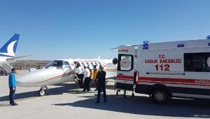 Ambulans uçak küçük Lale için havalandı