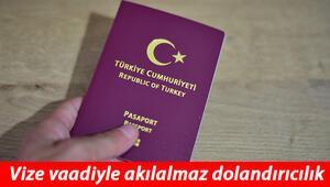 İstanbulda kurdukları sahte internet sitelerinde vize vaadiyle dolandırıyorlar