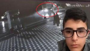 16 yaşındaki Ömerin öldüğü kaza kamerada