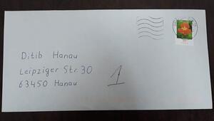 Irkçı terörün hedefi olan Hanau'da, camiye ırkçı mektup