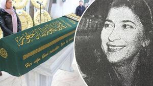 Yeraltı dünyasının ünlü Nurullah Tevfik Ağansoyun eşi son yolculuğuna uğurlandı