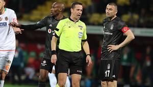 Alanyasporda Steven Caulkerden Beşiktaş maçı sonrası hakem isyanı