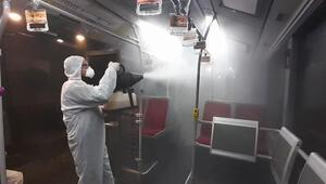 İstanbulda metrobüs ve duraklarda corona virüs önlemi