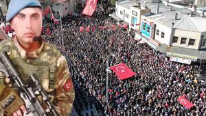 Şehit Uzman Çavuş Muhammet Yılmaz'ı Kütahya'da 20 bin kişi uğurladı