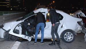 Ümraniyede zincirleme trafik kazası: Yaralılar var
