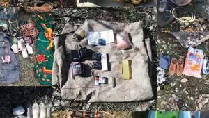 Kapan-1de patlayıcı ele geçirildi; PKKya malzeme sağlayan 8 kişiye gözaltı