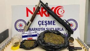 Bağ evine uyuşturucu baskını: 1 tutuklama