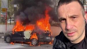 Sosyal medya fenomeni Uras Benlioğlu'nun aracı yandı