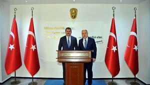 Azerbaycan Büyükelçisi Hazar İbrahimden Vali Coşkuna ziyaret