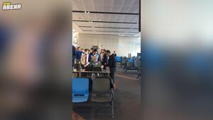 Ergin Atamandan uçağa giriş sırasında yapılan aramaya tepki