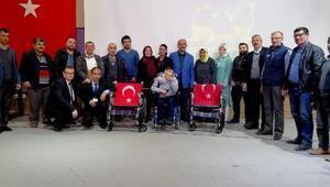 Karabük'te 16 tekerlekli sandalye dağıtıldı