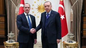Cumhurbaşkanı Erdoğan, Dominic Raab'ı kabul etti
