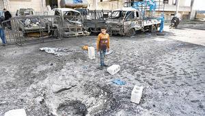Esad rejimi İdlib'de sivilleri bombaladı