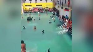 Mahkumlar, hapishane bahçesini yüzme havuzuna çevirdi