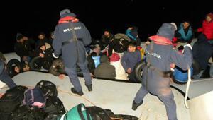 Çeşmede 78 düzensiz göçmen kurtarıldı