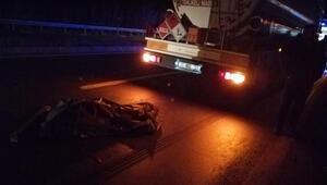 Tankerin çarptığı yaya öldü