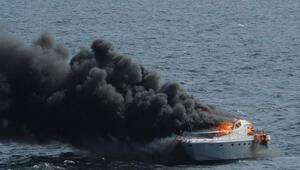 Silivrideki yat faciasında 2 kişi ölmüştü Yangını ABD savaş gemisi de müdahale etmiş