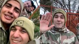Şehitler İdlib'e giderken çektikleri videoda helallik istemiş