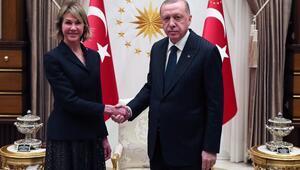 Cumhurbaşkanı Erdoğan, ABDnin BM Daimi Temsilcisi Craftı kabul etti