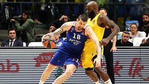Anadolu Efesin galibiyet serisi Maccabi Tel Aviv karşısında sona erdi