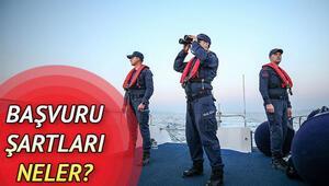 Sahil Güvenlik uzman erbaş alımı başvuru şartları neler Başvurular ne zaman bitecek