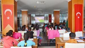 Kahramanmaraşta öğrencilere özel kütüphane servisi