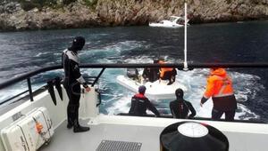 Marmariste su alan teknedeki 3 kişi kurtarıldı
